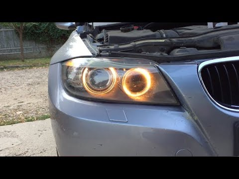 how to change the angel eyes h8 bulbs on bmw e90 lci full tutorial youtube. Black Bedroom Furniture Sets. Home Design Ideas