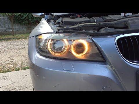 How to change the angel eyes H8 bulbs on BMW e90 lci FULL TUTORIAL