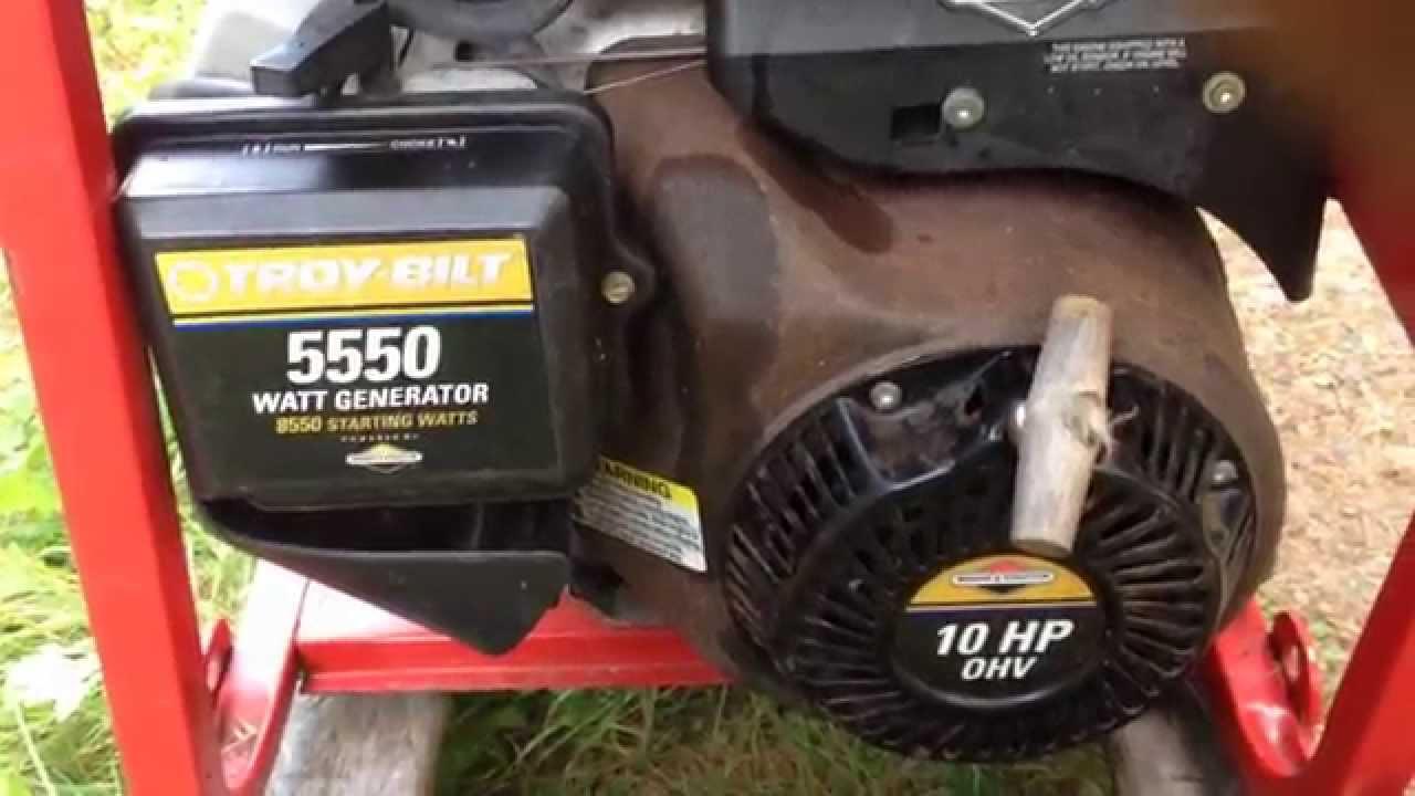 How To Start A Troy Bilt Generator Youtube Prime Genset Pr6500cl 5000watt