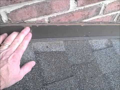 loose roof counter flashing found during nashville tn home inspectionwmv youtube - Roof To Wall Flashing