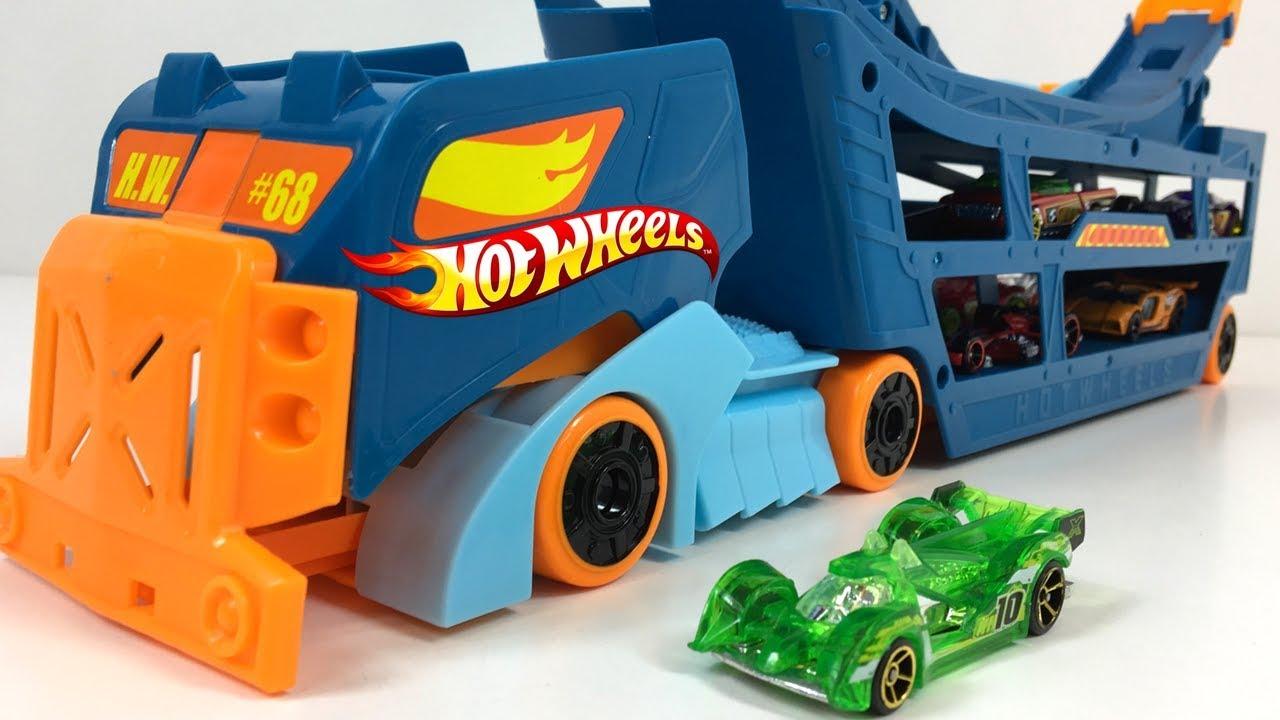 Wheels Stuntamp; Hi Camion Transportador Con Y El Missile Incluido Go Hot Vehiculo Tech Lanzador CQsthrd