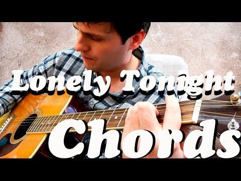 Guitar Chords Blake Shelton Lonely Tonight Youtube