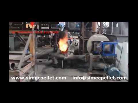 Biomass Pellet Torrefaction Line, Wood Pellet Charcoal Plant, Continues Carbonization Production