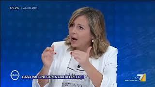 Il Ministro della Sanità Giulia Grillo sulle parole di Paola Taverna in materia di vaccini: ...