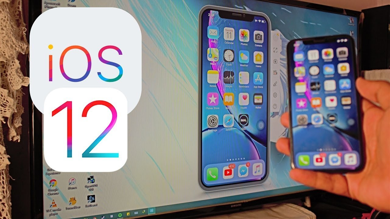 Screen Mirroring with iPhone iOS 12 (Wirelessly - No Apple TV Required  2018) HD