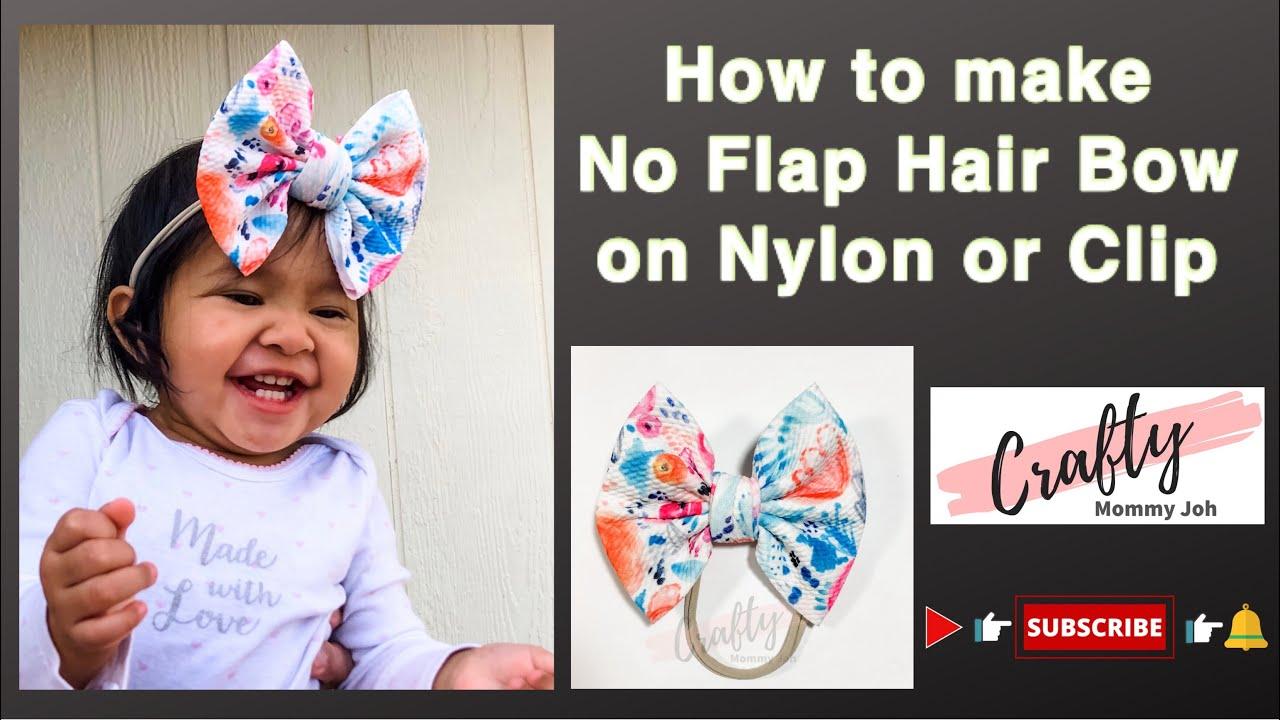 Girl Hair Bow on Nylon