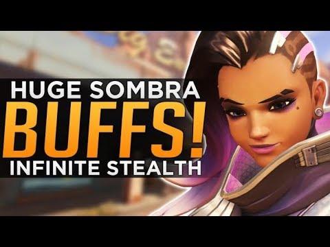 Overwatch: HUGE Sombra BUFFS! - INFINITE STEALTH