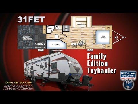 Coachmen Adrenaline FET Family Edition Toy Hauler RV Review at MHSRV.com