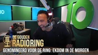 Gerard Ekdom in de maling genomen door collega bij nominatie Gouden RadioRing