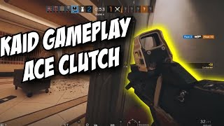 Rainbow Six Siege Leaked Kaid Gameplay ACE & CLUTCH !!! Kaid Full Loadout AUG & Scoped Pistol