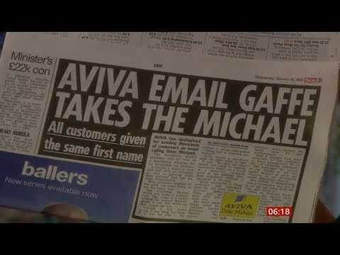 aviva-emails-all-customers-as-michael-&-rover-range?-(fun-stories)-(uk)---bbc-news-29th-january-2020