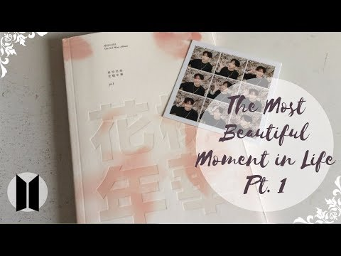 Unboxing BTS (Bangtan Boys) 방탄소년단 3rd Mini Album The Most Beautiful Moment in Life Pt.1 (Pink Ver.)