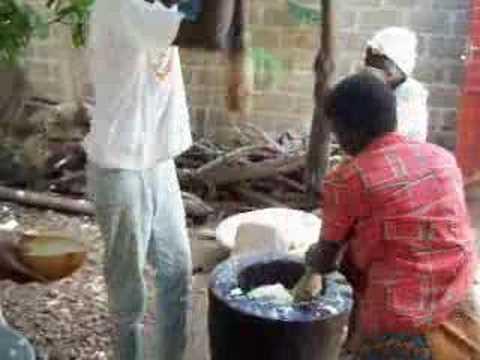 Pounding Yams in Benin