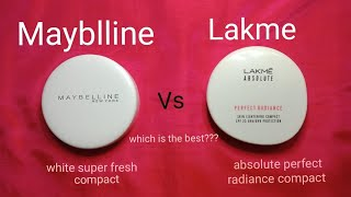 Mayblline white Superfresh compact Vs Lakme perfect radiance compact StylONIKA