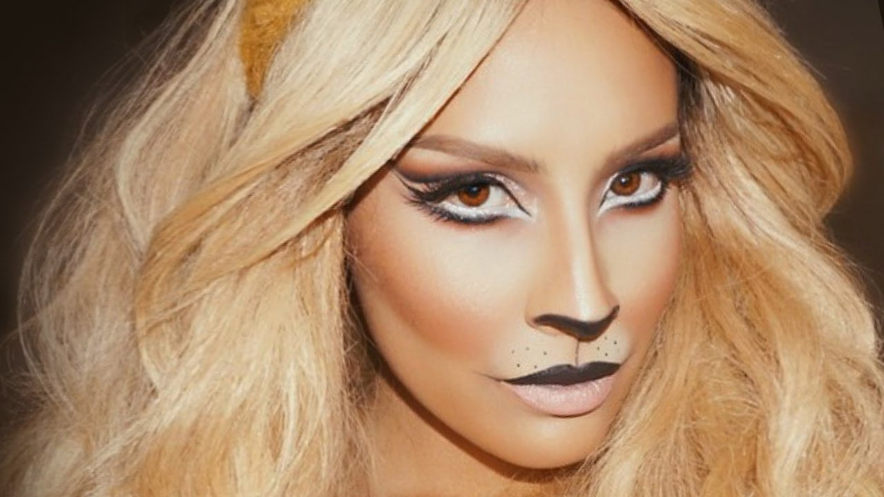 Lion Halloween Makeup | Desi Perkins - YouTube