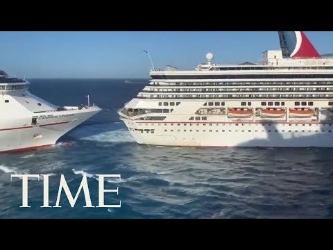 6 Injuries Reported As 2 Carnival Cruise Ships Collide In Cozumel, Mexico   TIME