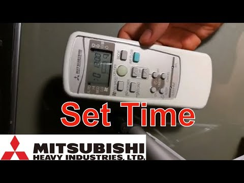How to set up time in remote controller Mitsubishi Heavy Industries Air Conditioner RKX502A001B
