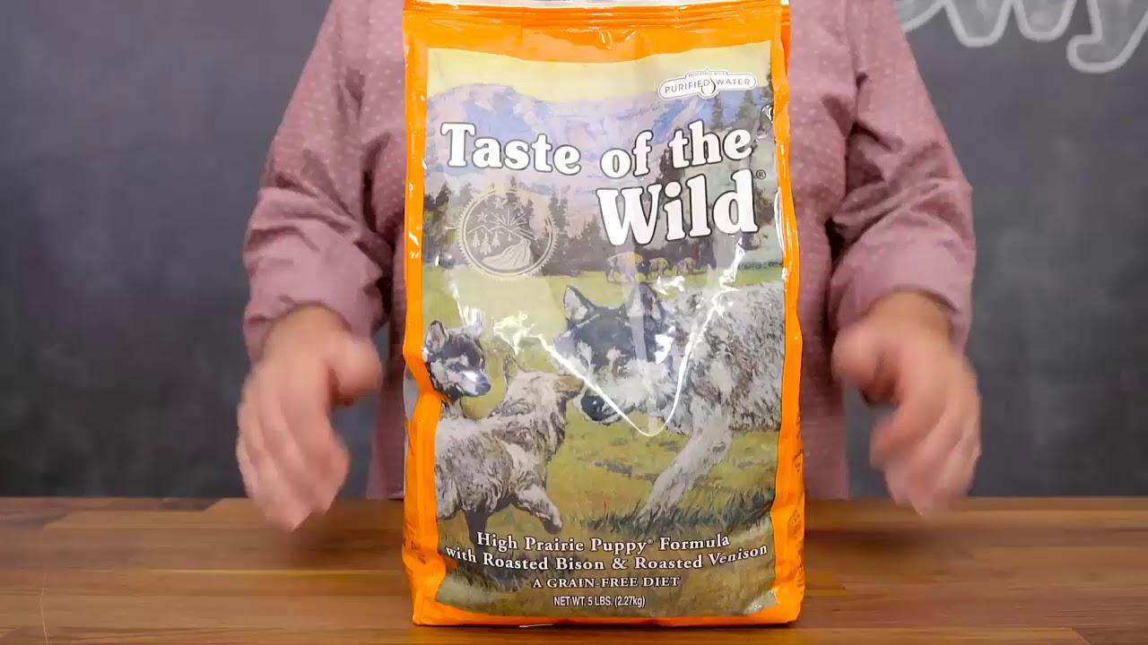 Taste of the Wild High Prairie Grain Free Dry Dog Food, 30 lb bag - YouTube