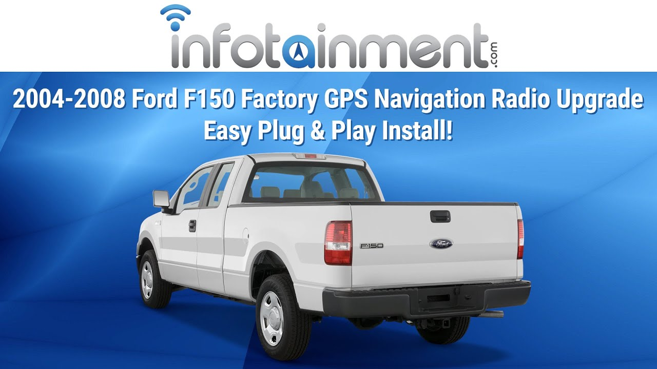 medium resolution of 2004 2008 ford f150 factory gps navigation radio upgrade easy plug play install youtube