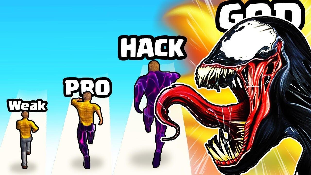 EVOLVING a WEAK Human to MAX LEVEL VENOM in Toxic Hero 3D