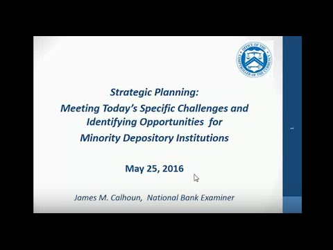 Strategic Planning for Minority-Owned and Women-Owned Financial Institutions