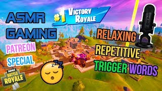 ASMR Gaming 😴 Fortnite Sleep Relaxing Repetitive Trigger Words 🎮🎧