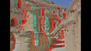 3D Anaglyph red cyan - rot/cyan - Tunesien Tunisia El Djem