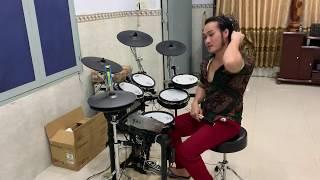 Test trống roland td 15kv tại nhà(drum thiên tài)rock rock rock nge cực đã-có nhạc nền để nge