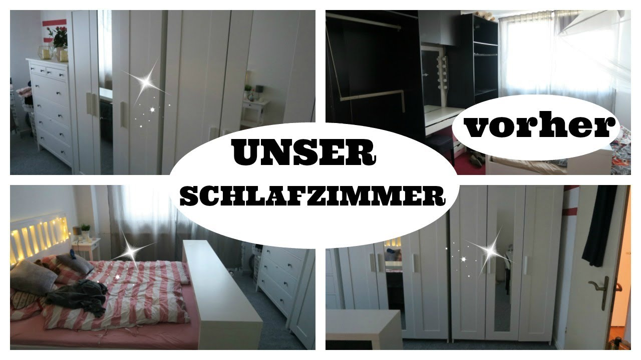 unser neues schlafzimmer roomtour vorher nachher youtube. Black Bedroom Furniture Sets. Home Design Ideas