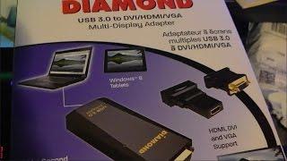 Diamond USB 3.0 to DVI HDMI VGA Multi Display Adapter (Display Link DL-3500) (BVU3500) Review