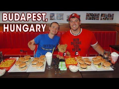 MEGA BURGER CHALLENGE in Budapest, Hungary!!