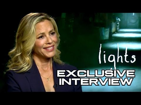 Maria Bello Exclusive LIGHTS OUT Interview - YouTube
