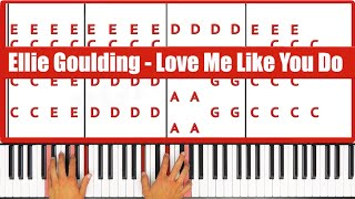 ♫ ORIGINAL+VOCAL - How To Play Love Me Like You Do Ellie Goulding Piano Tutorial Lesson! - PGN Piano