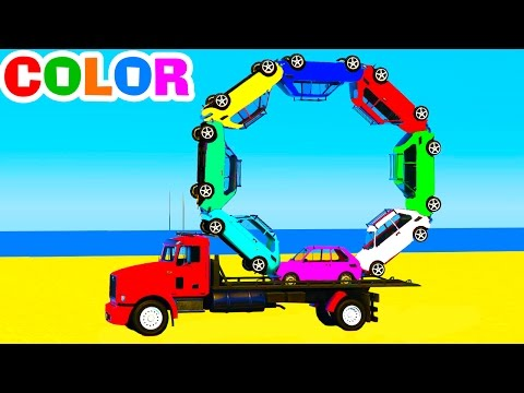 Thumbnail: Learn Colors with Truck & Cars for Kids - Learn Numbers in Color Spiderman Cartoon Learning Video