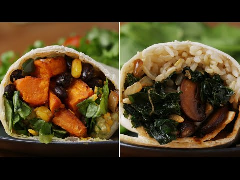How To Make Meatless Burritos With Veggies • Tasty