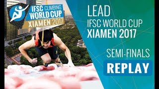 Lead finals of the 7th Lead and Speed #IFSCwc of 2017 in Xiamen, Ch...