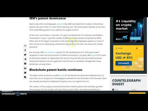 Daily Crypto Vision: IBM Leader in Blockchain and I Patents
