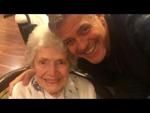 87-Year-Old Explains How George Clooney Surprised Her at Nursing Home