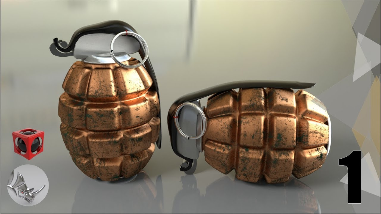 Tutorial rhino 3d modelar una granada 1 4 youtube for Modelar habitacion 3d max