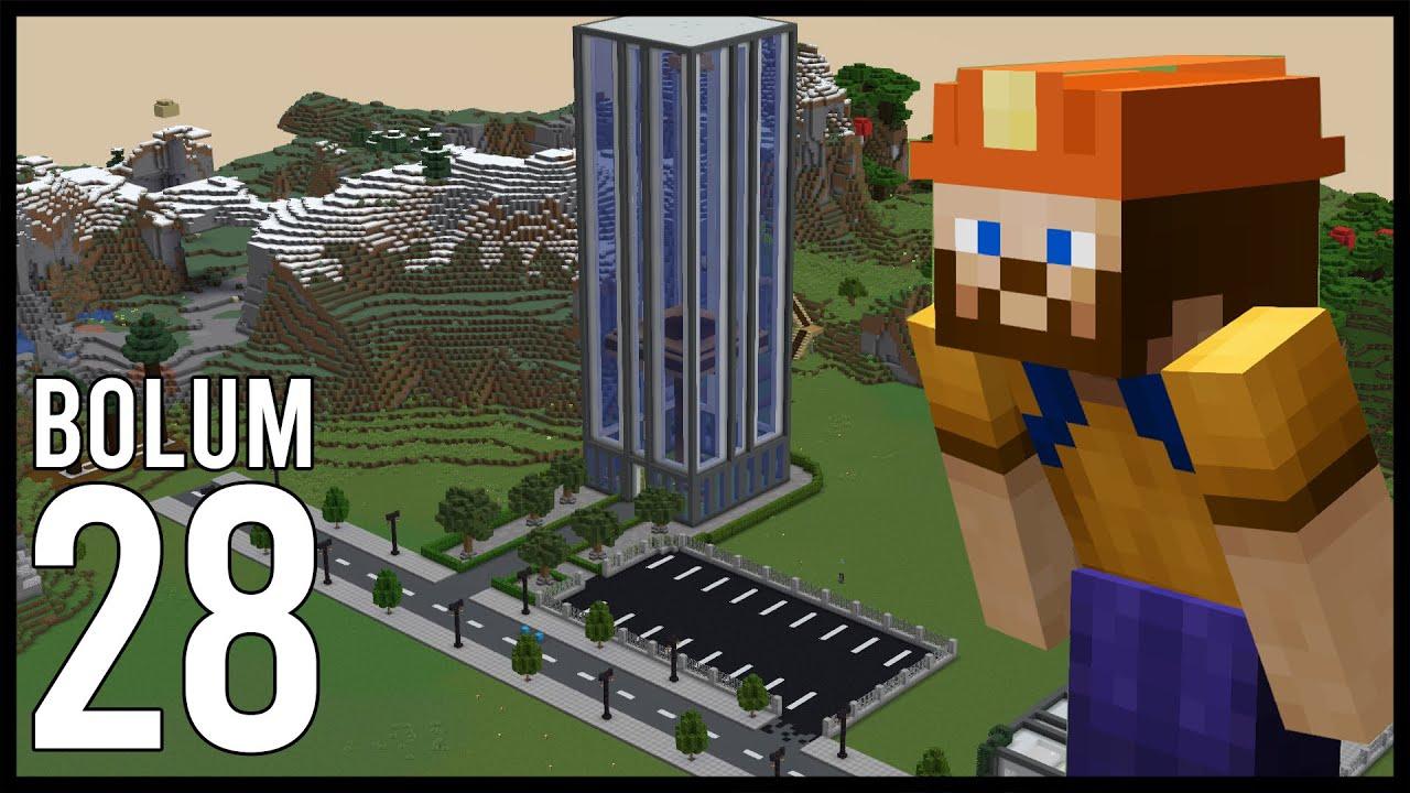 GÖKDELEN BAHÇESİ ve OTOPARKI! Minecraft: Modsuz Survival   S6 Bölüm 28