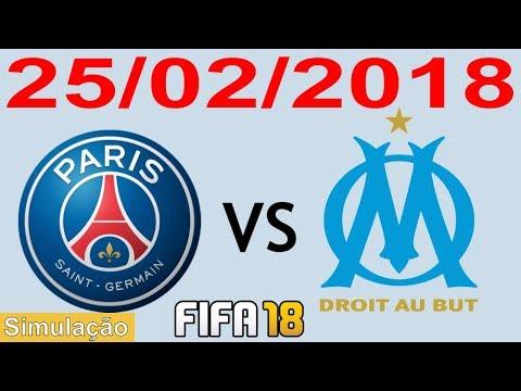 PSG X OLYMPIQUE 25/02/2018 - Campeonato Francês - Championnat de France - Simulação FIFA 18