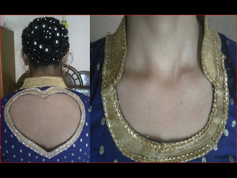 collar wali kurti with beautiful back heart shaped neck