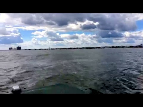 Tropical Storm  Hermine - Absecon Island - NJ  skiff cruise over the shoals 9-7-16