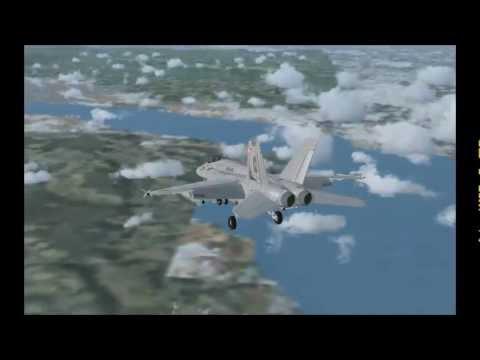 Super Hornet Atterrissage à genève