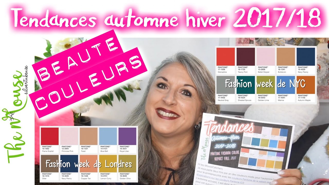 tendances mode beaute et couleurs automne hiver 2017 2018 partie 1 mode 50ans youtube. Black Bedroom Furniture Sets. Home Design Ideas