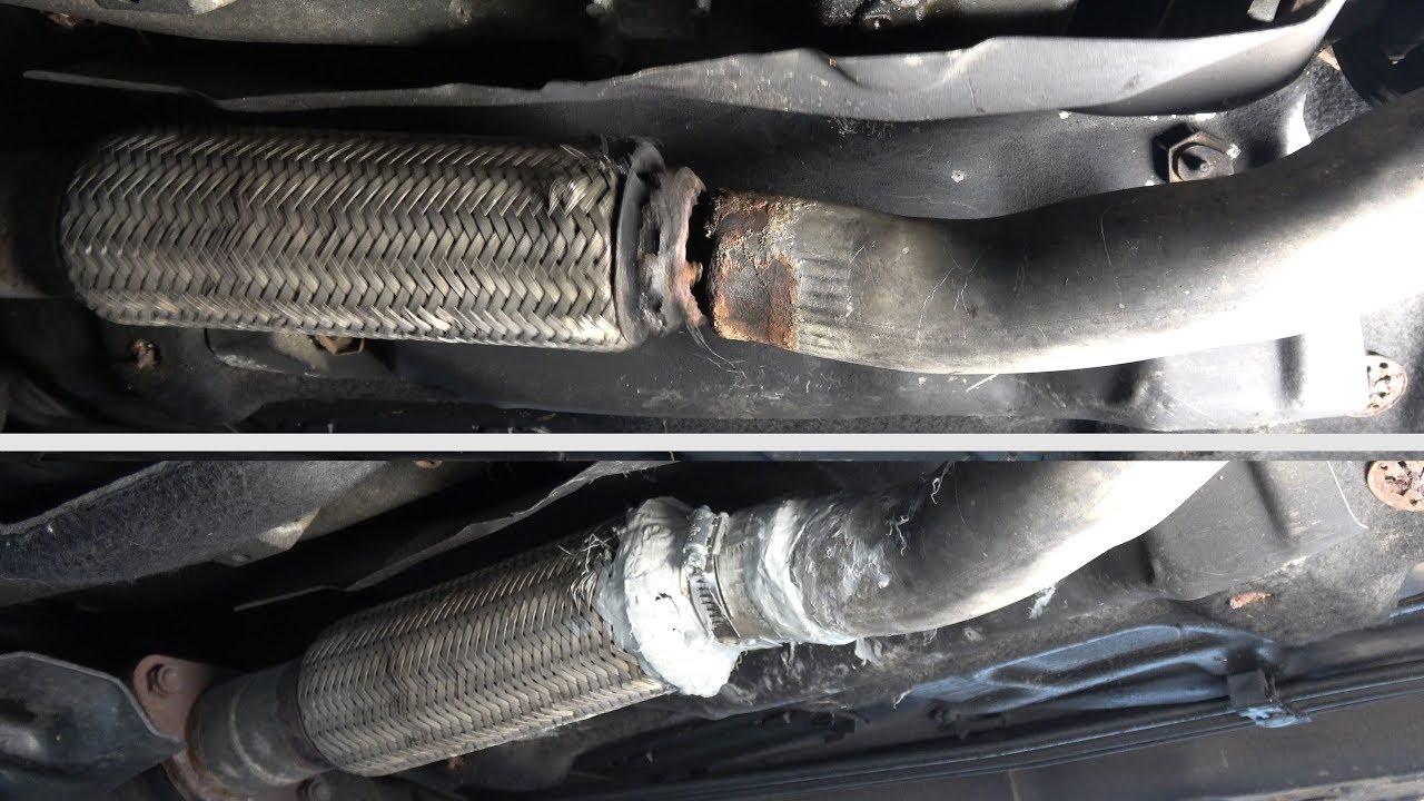broken exhaust pipe repair easy repair without dismantling