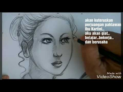 Wowmenggambar Wajah Ibu Kartini Jaman Now No Timelaps Youtube