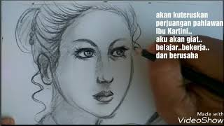 Download Video Wow,menggambar wajah ibu Kartini jaman now | no timelaps MP3 3GP MP4