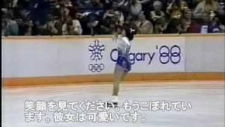 【字幕つき】 Midori Ito アメリカ実況 1988五輪LP