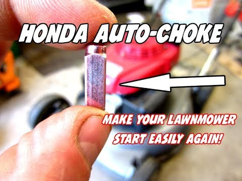 Make Your Lawnmower Start On The First Pull Again – Honda Auto-choke Repair – Video